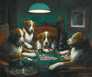 Dogs Playing Poker - Cassius Marcellus Coolidge