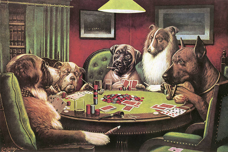 Poker paintings